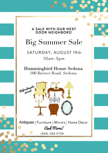 HUMMINGBIRD HOUSE AUG SALE